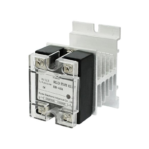 Aexit AC DC 3-32V auf 24-480V 40A Single Phase SSR Solid State Relay w Kühlkörper (Single Phase 480)