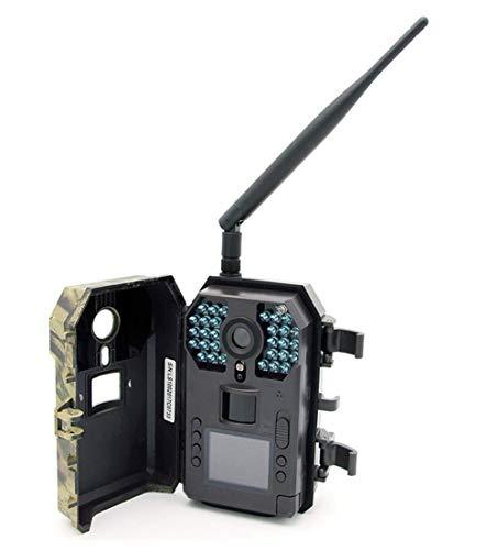 J.KM wasserdichte Jagdkamera mit IP56-Kamera, Keine Glühen-Infrarot-16MP 1080P HD-Kamera für wild lebende Tiere mit 130 ° Weitwinkel-Nachtsicht bis zu 65 ft, Kamera Scouting