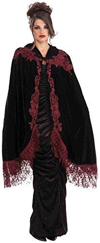 Forum Spitzen Kostüm - Forum Novelties Inc. Gothic Vampirin 114cm Samt & Spitze viktorianisches Kostüm Umhang Cape