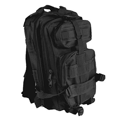 Rucksack, Angelrucksack, GP-BLACK Outdoor- Back Pack mit vielen Taschen (Einschub Öse)