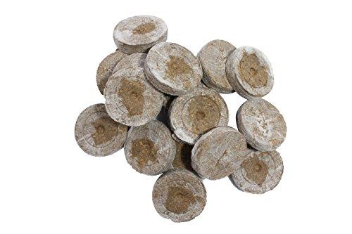 Jiffy Torfquelltöpfe 20 STK. Stecklinge Aufzucht - Kokoserde Quelltabletten Anzuchterde Aussaterde Torftablette Tomaten Stecklinge