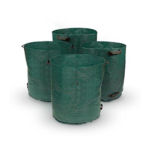 Purovi® 4x Gartensack 280l | Laubsack | 85cm X Ø 70cm | Doppelte Naht Mit Verstärkungsringen | Sack Aus Polypropylen-gewebe Pp