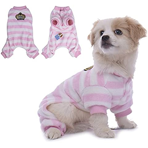 WIDEN Cane Pigiama cappotti gatto vestiti del cane delle tute di usura di svago quattro-piedi con cappuccio Pet Abbigliamento caldo