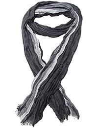 Chèche, foulard, écharpe pour homme ou mixte, gris dominant, 180 x 60 cm. Nouveauté. R8531G.