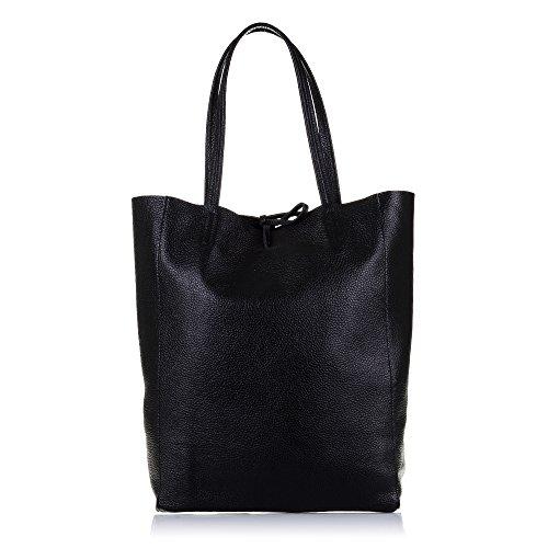 Firenze ARTEGIANI.Bolso Shopping Bag de Mujer Piel auténtica.Bolso Mujer Cuero gneuino Savage Tacto...