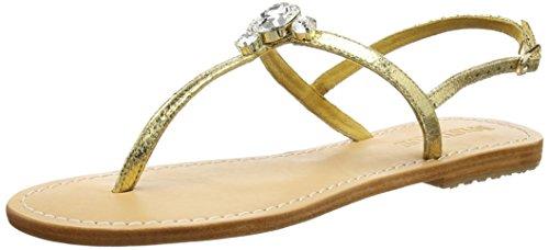 Mystique 6312 Mystique Ss16, Sandales ouvertes femme Or - Gold (natural Sole gold-clear)