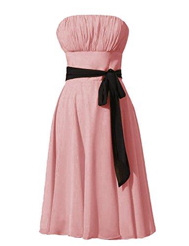 Dressystar vestito da damigella d'onore/sera/bal Top corta, con una cintura, in mussola Rubor 62