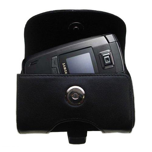 Gürtel Ledertasche Schwarz mit abnehmbaren Clip und Gürtelschlaufe für den Samsung SGH-E780
