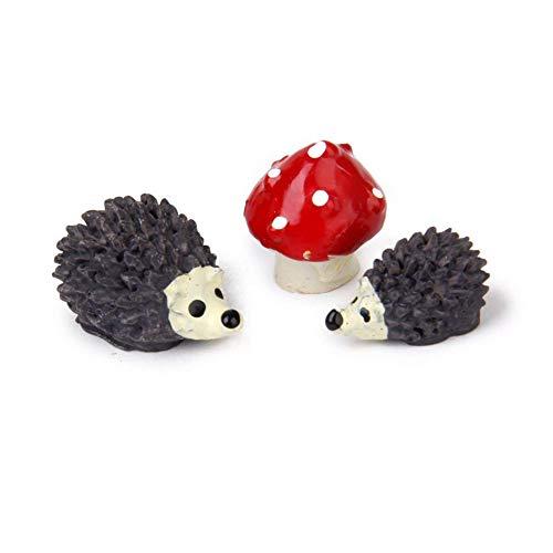 Características:  duradero - hecha de poli-resina de calidad. Son impermeables, a prueba de herrume. Cada uno es con los grandes detalles hechos a mano.  apoyos en miniatura para jardín de hadas y jardín en miniatura. Son muy pequeños en tamaño pero ...