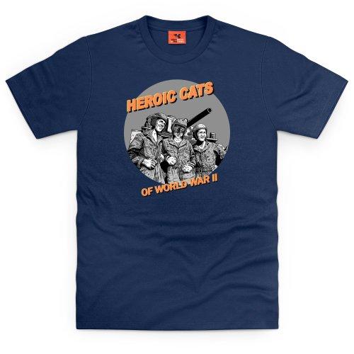 Heroic Cats T-Shirt, Herren Dunkelblau