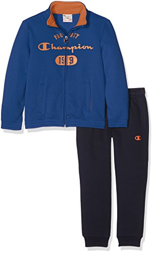Champion Bambino,  Tuta Auth. Light Fleece Back, blu/blu/ arancione,   XS,   304400_F16