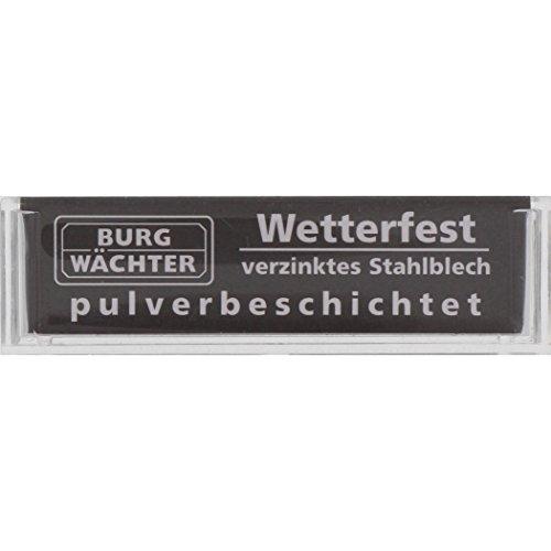 BURG-WÄCHTER, Namensschild (Paarweise gepackt), Kunststoff, BK 92 F SB, Transparent