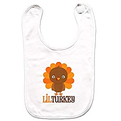 7 ate 9 Apparel Unisex Little Turkey Thanksgiving Bib for Babies -