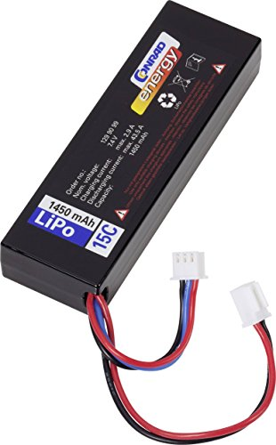 Conrad energy(LP702689 ) ( ) LiPo accu 7.4 V Système de connecteur fiche mâle micro voiture XH