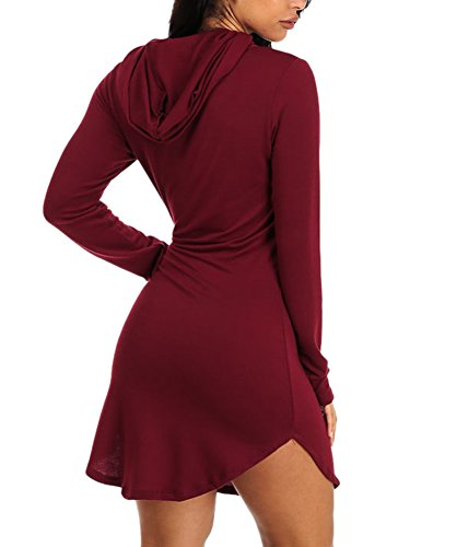 Cfanny - Robe - Chemise - Femme Wine-Long Sleeves