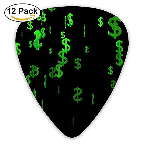 Funny American Dollar Sign Celluloid Guitar Picks 12 Packs (Ein-dollar-gum)