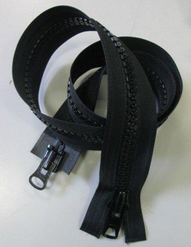 Reißverschluß Kunststoff 2-Wege teilbar für Motorradkleidung 80 cm schwarz (Reißverschluss-motorrad)