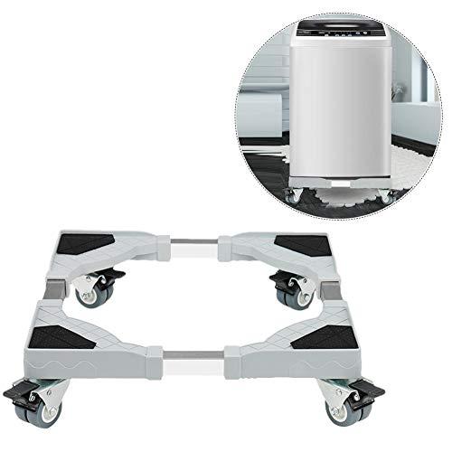 Leiyini Waschmaschine Sockel Untergestell Basis Verstellbare Sockel mit Verstellbar Füße für Trockner, Waschmaschine und Kühlschrank -