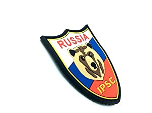 Russie IPSC Ours PVC Airsoft Velcro Patch