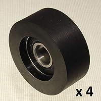 Pack de 4 rodillos de goma rígida para rueda de poliuretano fabricado en la UE