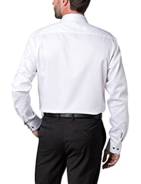 ETERNA long sleeve Shirt MODERN FIT structured white 17 1/2 extra long (68 cm)