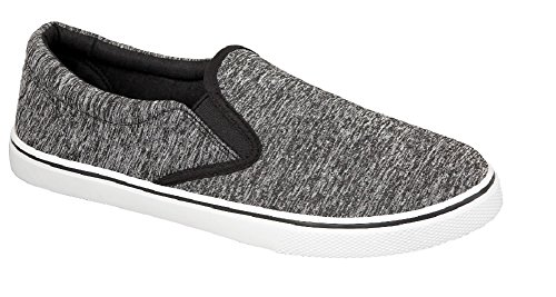 Uomo slip on scarpe estate Black Jersey