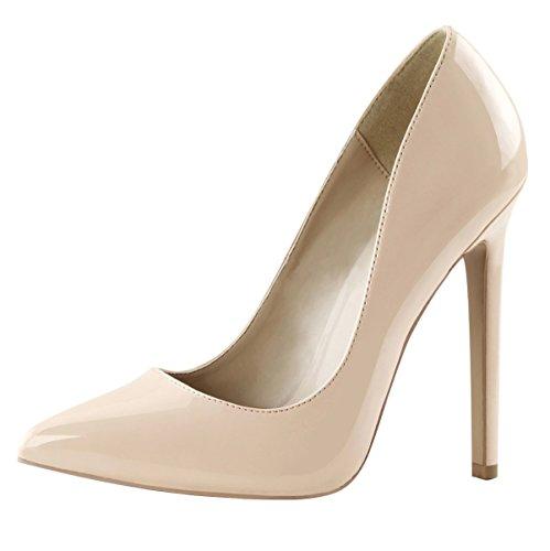 High Heels Pumps, Damen, Beige (beige) Beige (Beige)
