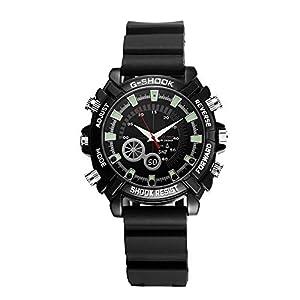 articulos espionaje: EFISH - Reloj de Pulsera Oculto con Tarjeta de Memoria de 16 G, Mini videocámara...