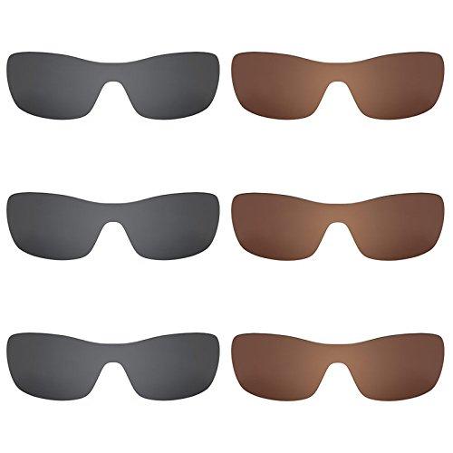 Revant Ersatzlinsen für Oakley Antix Polarisiert 6 Paar Kombipack K030
