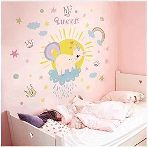 Adesivi da parete adesivi da parete autoadesivi adesivi da parete colorati adesivi da parete colorati unicorno arcobaleno per camera dei bambini cameretta per ragazze decorazione per bambini