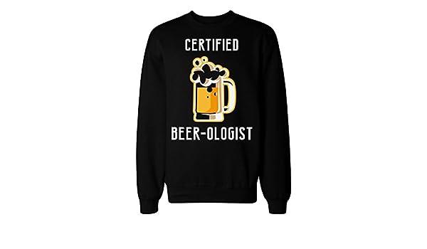 IDcommerce Certified Beer-Ologist Glass of Beer Design Mens Womens Unisex Sweatshirt
