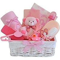 Belle Deluxe Grandi Baby Girl Cesto Regalo/12per neonati Essentials/Cestino/Baby Shower Regalo/nuovo arrivo regalo/spedizione (Torta Set Decoration)