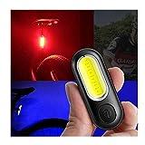 RBTT Impermeabile Posteriore di Bicicletta 5 modalità di Guida di Notte Pioggia di Avvertimento Luce di Ricarica USB Biciclette Lampada LED COB Perline Rosse Blu-Ray
