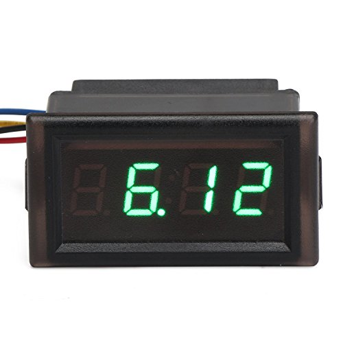 Preisvergleich Produktbild DROK® YB28T-W Wasserdichte elektronische Stechuhr, 4,5 ~ 30V Auto-Digital Clock Time Monitor für Automobile , LED Lichtwecker Elektronische Uhren anzeigen