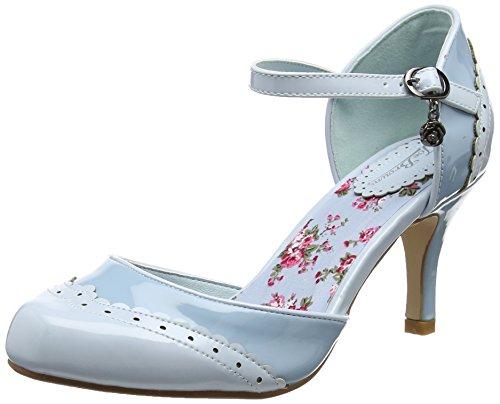Joe Browns Damen 42nd St Patent Shoes Riemchen Pumps, Blue (Blue), 42 EU