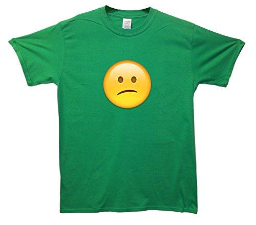 Puzzled Face Emoji T-Shirt Grün