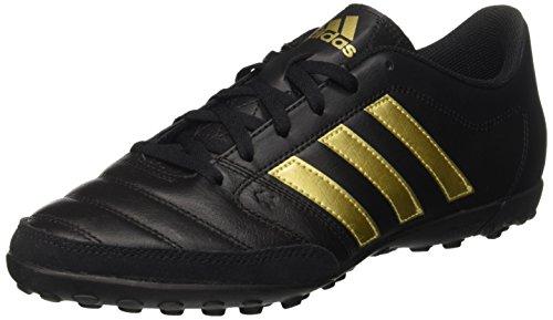 adidas Gloro 16.2 Tf, Entraînement de football homme Noir (Core Black/gold Metallic/core Black)