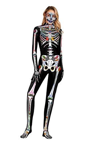 URVIP Unisex Halloween Unheimlich Gespenstisch Bodycon Party Cosplay Kostüm Overalls WB141-002 S