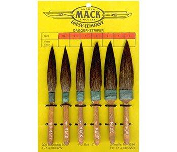 Mack : Series 30 Squirrel Hair Dagger Striping Brush : # 00 - Mack Serie