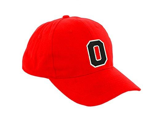 Unisex Jungen Mädchen Mütze Baseball Cap ROT Hut Kinder Kappe Alphabet A-Z Morefaz TM (O) (Lakers Snapback Hut)
