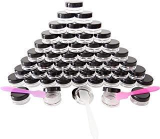 GreatforU 50 Stück Döschen, 5g Leere Probengläser, 5ml Klein Kosmetik Behälter mit Deckel für Kosmetikdose, Make-up, Lidschatten, Nägel, Proben, Lipgloss, Balsam, Badlotion, Gesichtscreme, Salben -