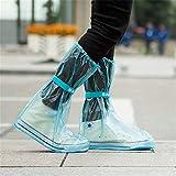 EbuyChX Outdoor imperméable à l'eau de Mode réutilisable Manteau de Pluie Bottes Couvre-Bottes Oversho Bleu Clair XL