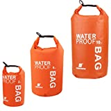 #10: Segolike 2L + 5L +10L Orange Compression Waterproof Dry Sack Bag Rafting Kayaking Fishing Camping