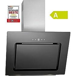 Bomann Hotte/hotte plate/écran LED 60 cm Noir/acier inoxydable