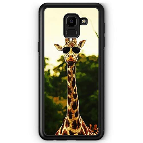 Coole Giraffe - Silikon Hülle für Samsung Galaxy J6 (2018) - Motiv Design Tiere Lustig Witzig - Handyhülle Schutzhülle Cover Case Schale