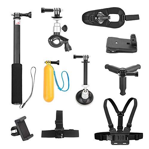 Augproveshak Action Camera Zubehör-Kit für DJI OSMO Action Camera, Selfie-Stick, Handyhalter, Stirnband, Stativ, Brustgurt