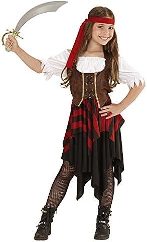 Widmann 05598 - Kinderkostüm Piratin, Kleid, Korsett und Stirnband, Gröߟe 158