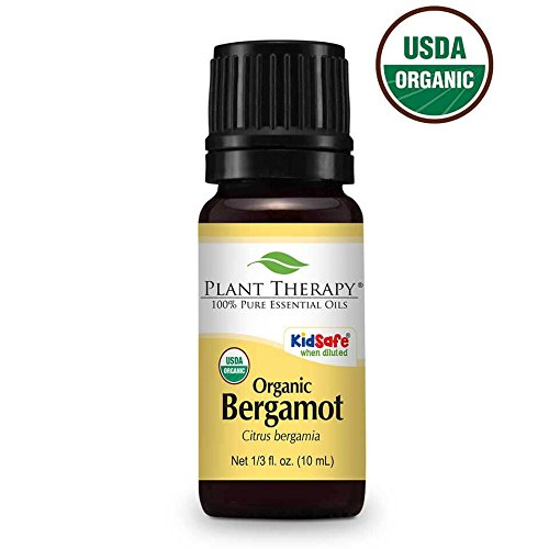 Bergamot Organic Essential Oil. 10 ml (3.3 oz). 100% Pure, Undiluted.