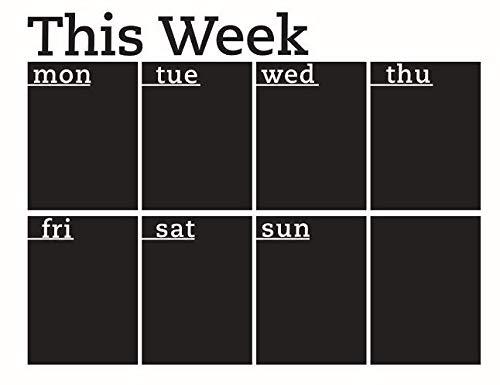 Preisvergleich Produktbild Wochenplaner Kalender Tafel Abnehmbarer Wandtattoo Kreidetafel Aufkleber
