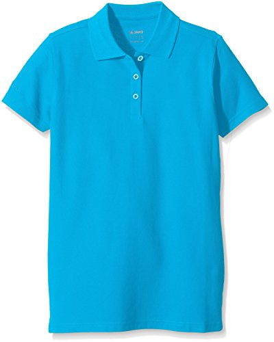 JAKO Damen Polo Team, blau, 42, 6333 (Blaue Damen-team-logo-t-shirt)